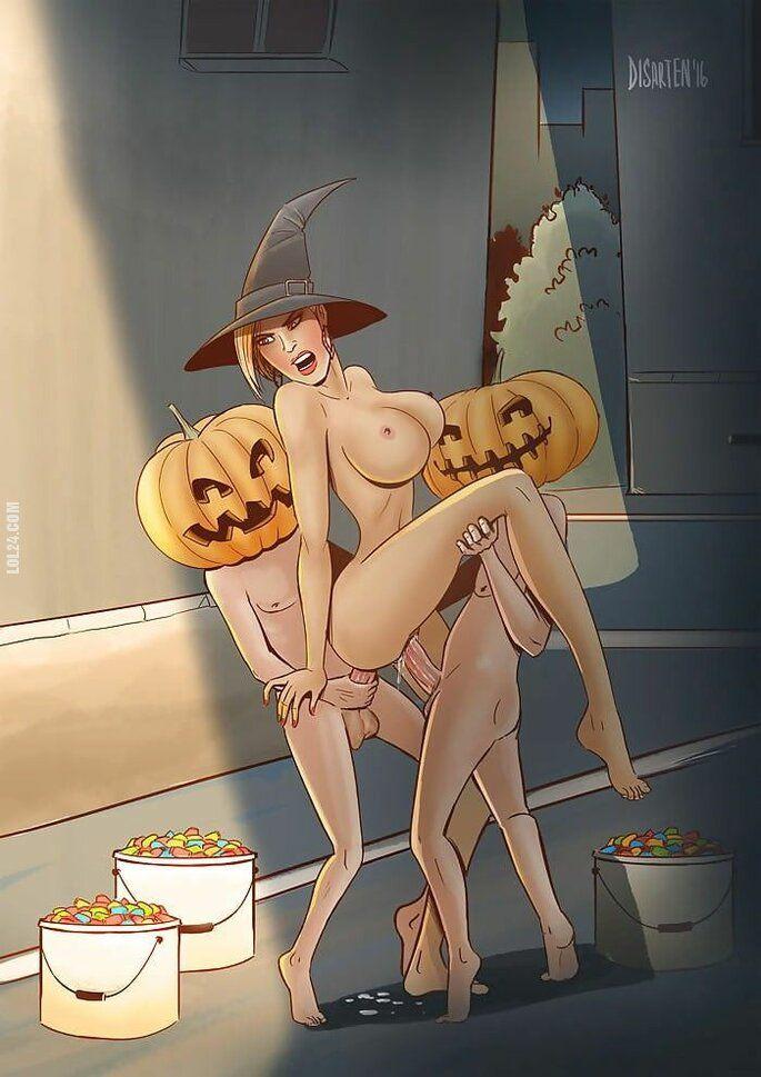 rysunek : Przecież dałam wam słodycze, więc dlaczego psikus???
