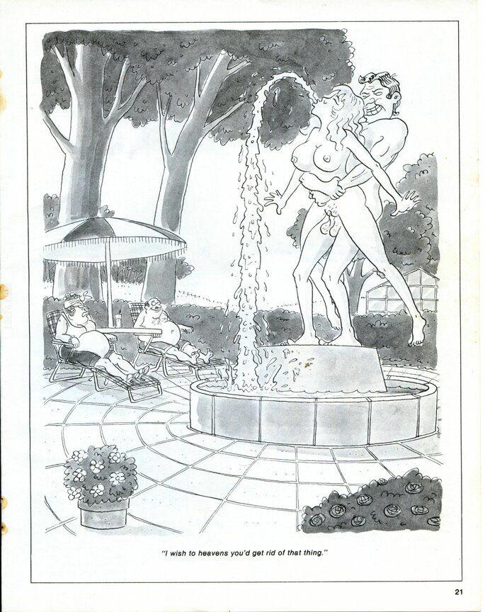 satyra : Fontanna z figurą