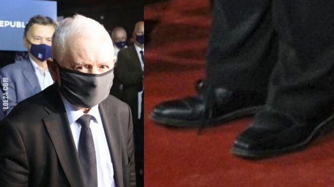 wpadka : Kaczyński przyjechał na konwencje Partii Republikańskiej w dwóch różnych butach?