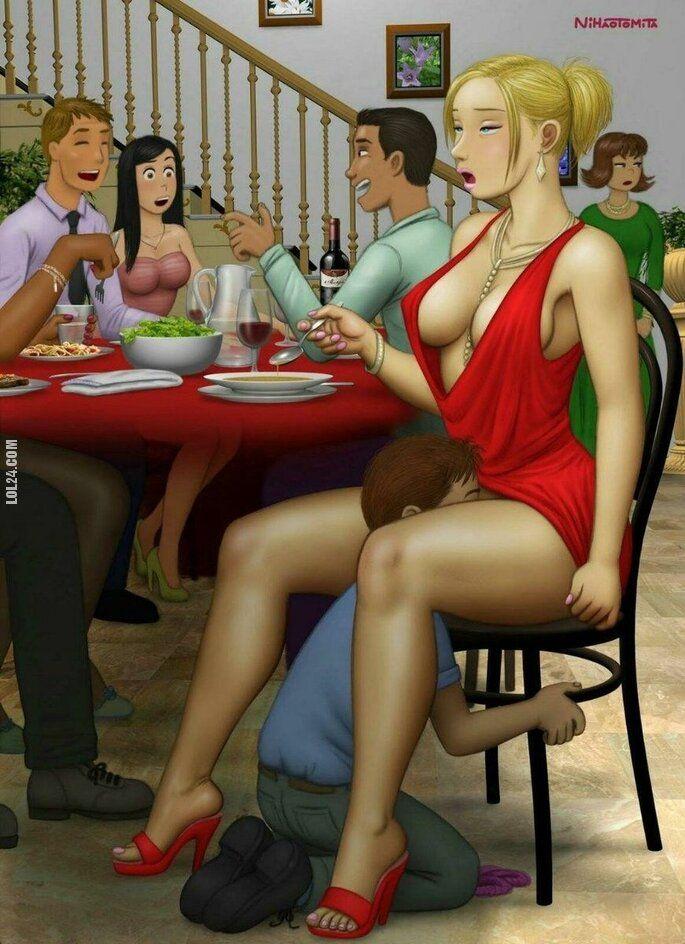 rysunek : Strój na przyjęciu może zdziałać cuda