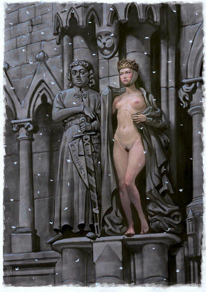 rzeźba, figurka : Historycznie, od historyczki... Kto mnie ogrzeje?