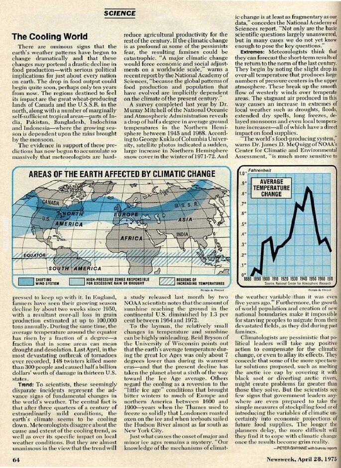 ciekawostka : Global cooling - Będzie zimno