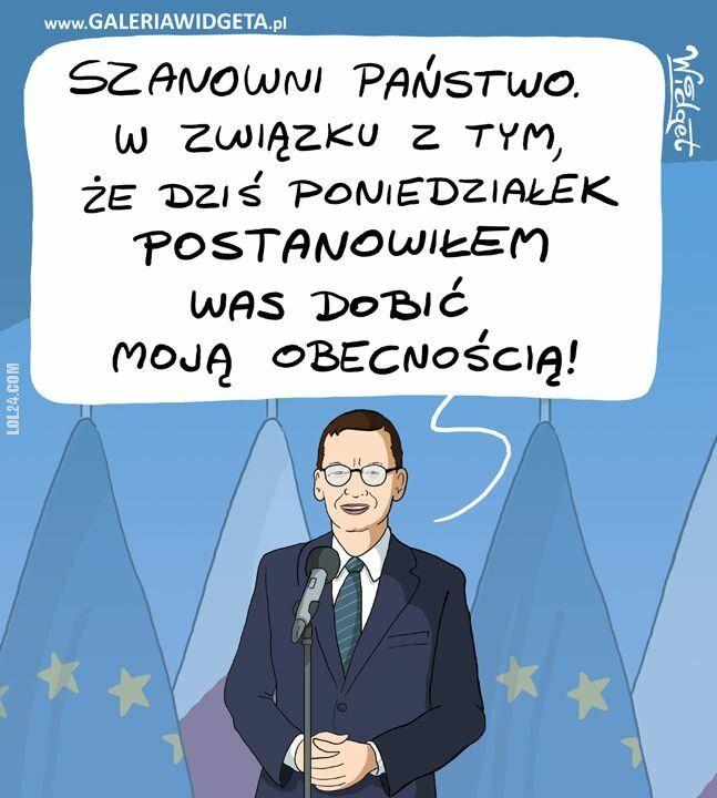 rysunek : Poniedziałek - Premier