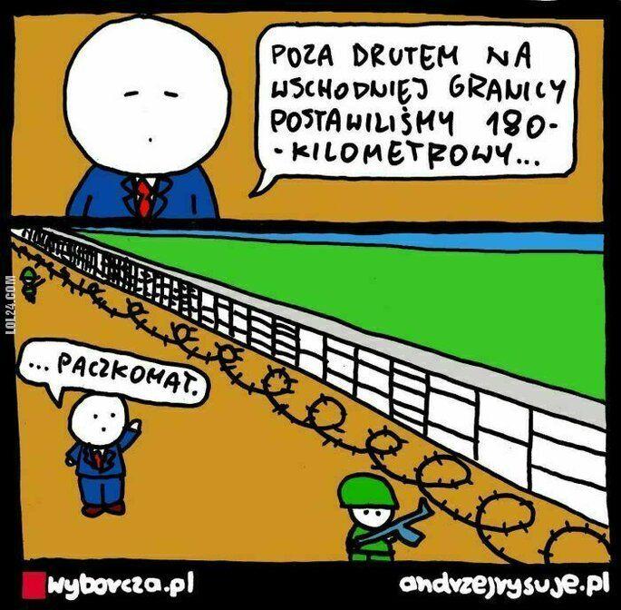 mem : Współczesny mur na granicy polsko-białoruskiej