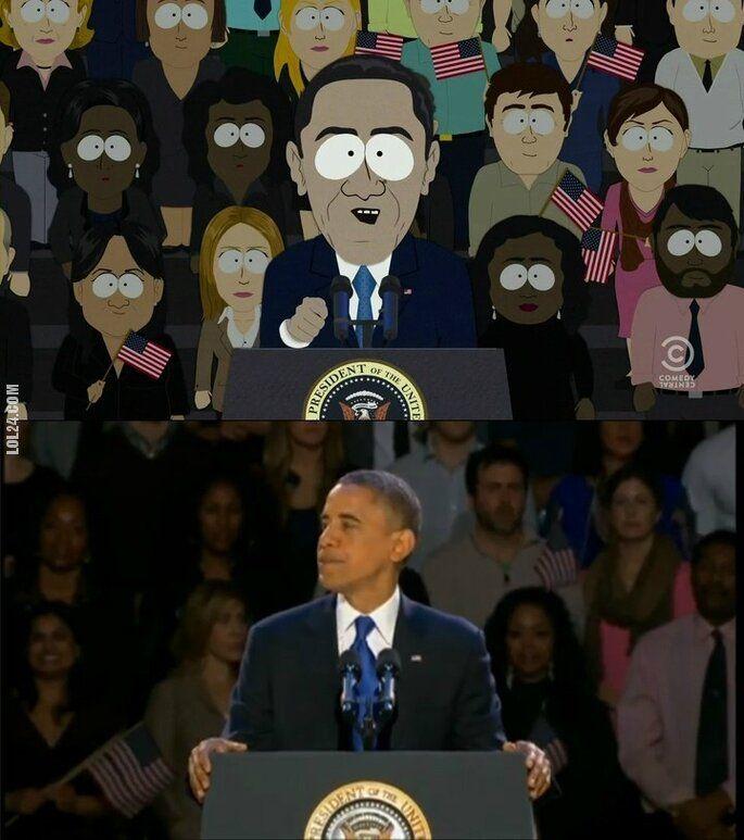 polityczna : Znajdź różnice - Obama i South Park