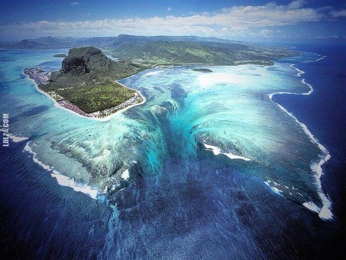 złudzenie : Naturalna iluzja podwodnego wodospadu