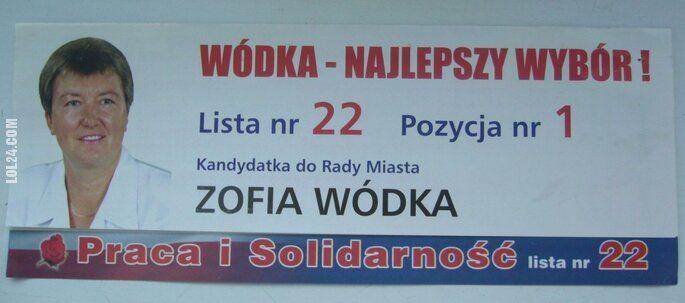 napis, reklama : WÓDKA NAJLEPSZY WYBÓR! Zofia Wódka