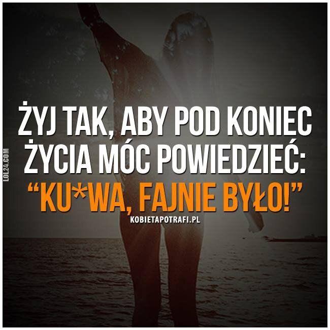 napis, reklama : Żyj tak :)