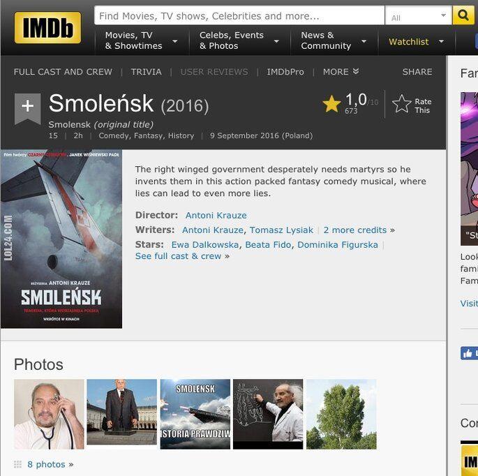 "wpadka : ""Smoleńsk"" na IMDb"