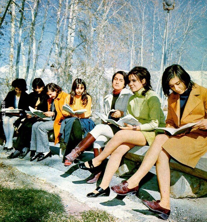 kobieta : Irańskie studentki (rok. 1970)