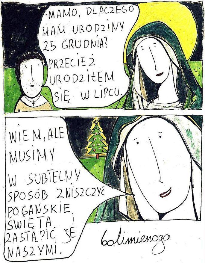 komiks : Mamo, dlaczego mam urodziny 25 grudnia?