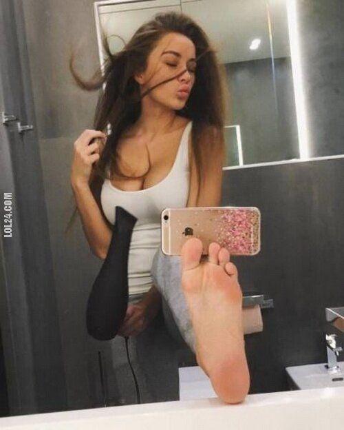 kobieta : Focia ze stopy