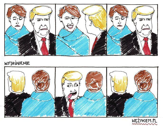 rysunek : Tak było... Melania Trump