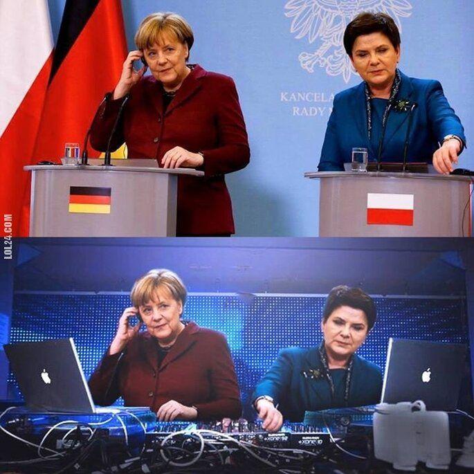 polityka : DJ Szydło & Merkel