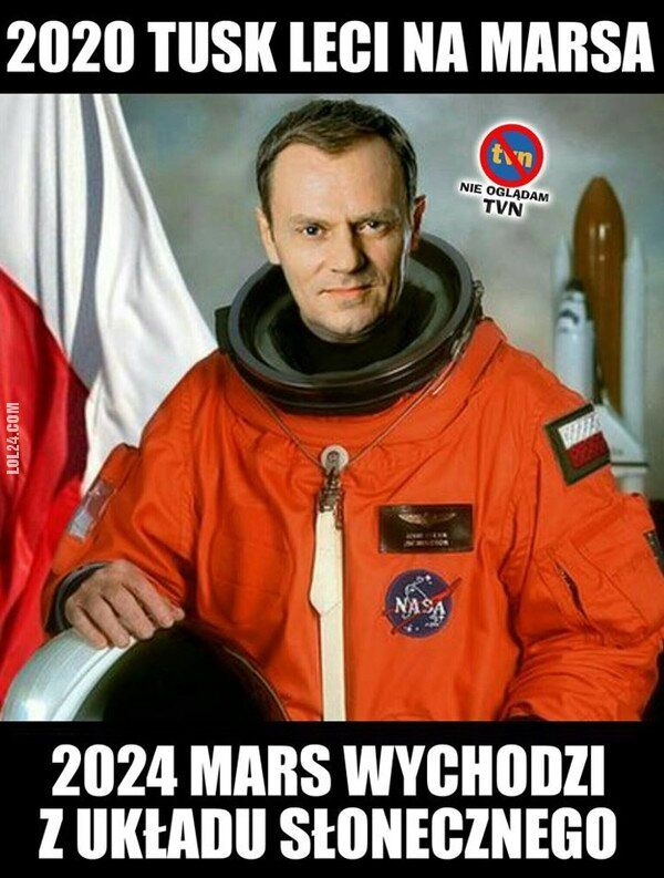 mem : 2020 Tusk leci na Marsa