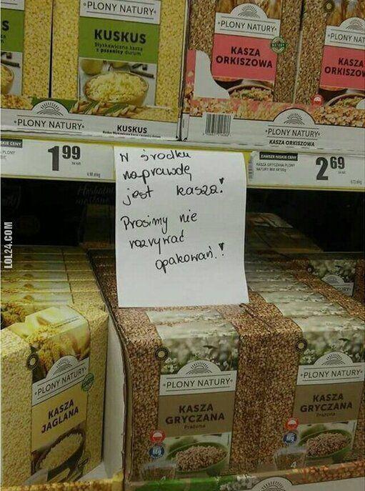 napis, reklama : Prosimy nie rozrywać opakowań!