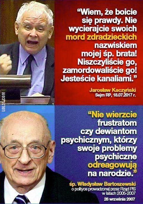 polityka : Jarosław Kaczyński vs.  śp. Władysław Bartoszewski