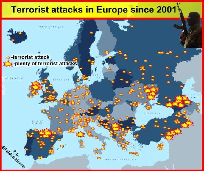 inne : Ataki terrorystyczne w Europie od 2001 roku