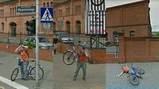Gościu z Poznania trolluje Google Street