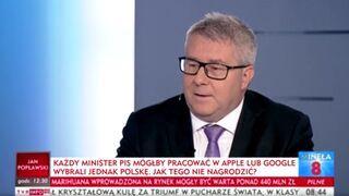 Każdy minister PIS mógłby pracować w Apple lub Google