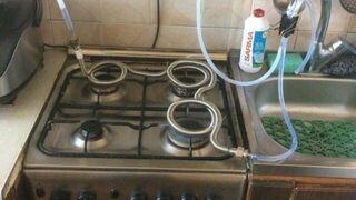Podgrzewacz do wody z kuchenki gazowej