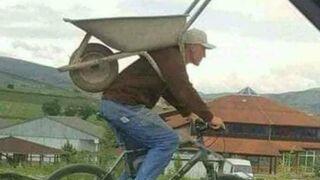 Jak przewieź taczkę na rowerze