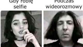 Selfie vs wideorozmowa