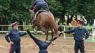 skok na koniu przez krocze