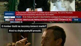 TVP na rocznicy śmierci matki Kaczyńskiego o Amber Gold