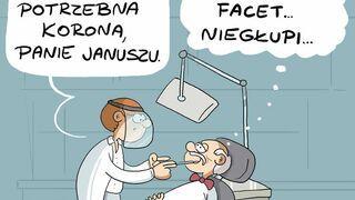 Janusz Korwin-Mikke u dentysty