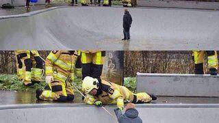 Akcja ratunkowa w skateparku