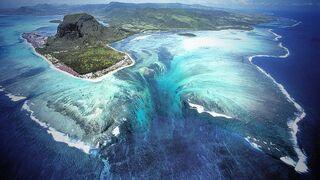 Naturalna iluzja podwodnego wodospadu