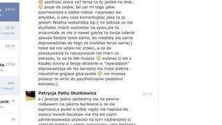 Gwiazdkę Patty poniosły nerwy - Zapis rozmowy na Facebook