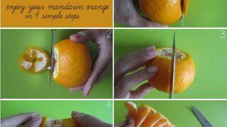 Jak szybko obrać mandarynkę?