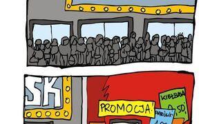 Tłumy przed kinem