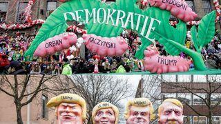 Karykatury z karnawałowej parady w Niemczech (2017)