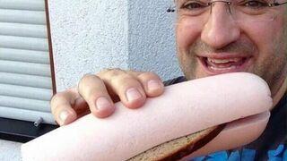 Mortadela z kanapką