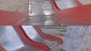 Zjeżdżalnia na placu zabaw w Rosji