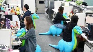 Wygodne Dino-krzesła w Chinach