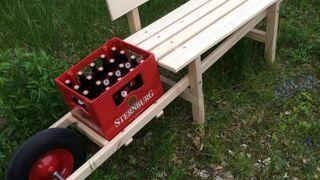 Mobilna ławeczka piwna - taczko-ławka!
