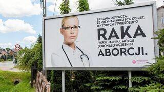 Billboard: Aborcja powoduje raka piersi, jajnika, mózgu