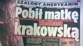 Pobił matkę kiełbasą krakowską