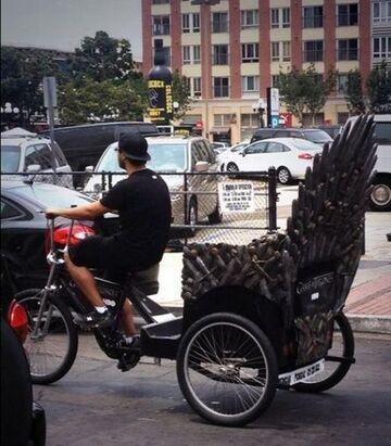 Taxi z żelaznym tronem