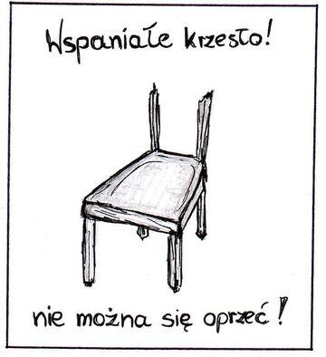 Wspaniałe krzesło!