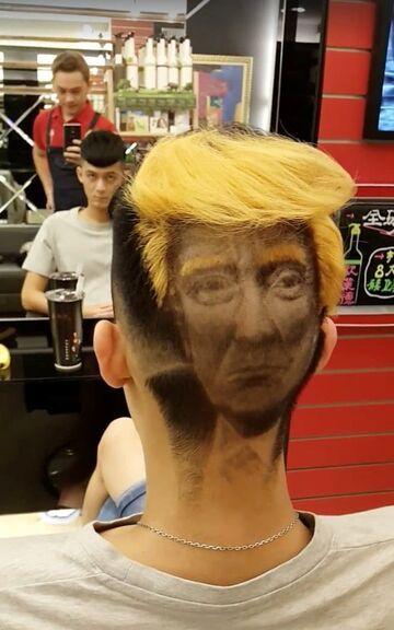 Fryzura na Donalda Trumpa