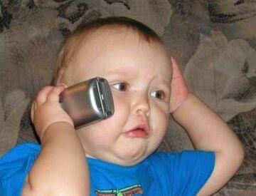 poważny telefon