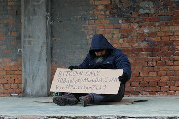 Daj Bitcoina żebrakowi