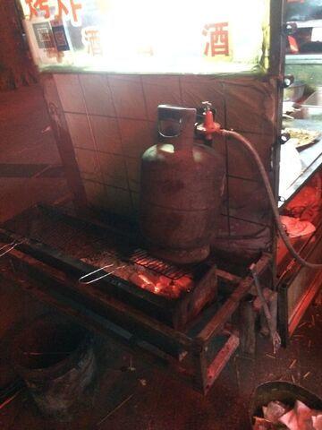 Butla na grillu
