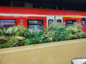 Graffiti na niemieckim pociągu