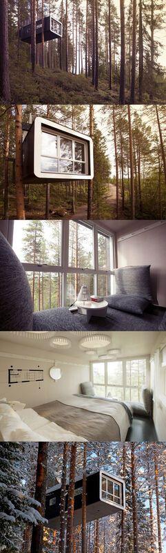Wspaniały domek na drzewie